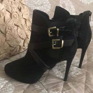Brand new size 9 1/2 black suede boots